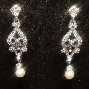 Markasite droplet earrings..